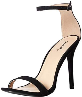 Qupid Women's Single Sole Heeled Sandal