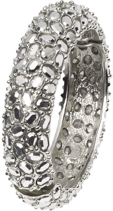 Silver Pavé Bangle by Kenneth Jay Lane