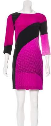 Diane von Furstenberg Printed Silk Dress w/ Tags