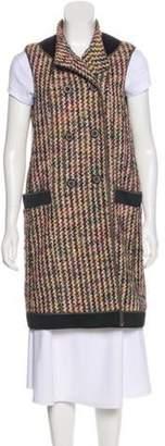 Etro Tweed Longline Vest Black Tweed Longline Vest