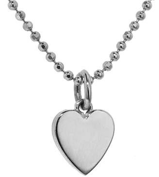Jennifer Meyer Solid Heart Necklace - White Gold