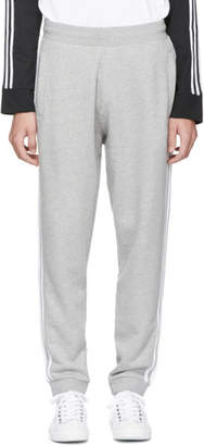adidas Grey 3 Stripe Lounge Pants