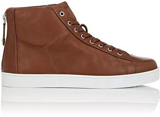 Gianvito Rossi Men's Back-Zip Leather Sneakers