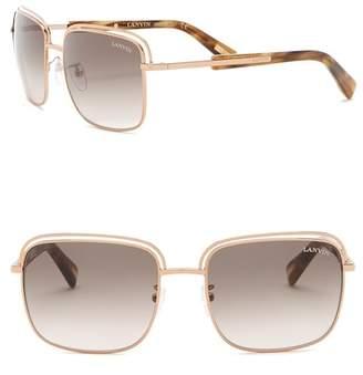 Lanvin 57mm Rectangle Sunglasses
