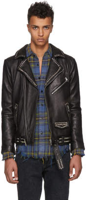 Stolen Girlfriends Club Black Studded Stolen Joey Leather Jacket