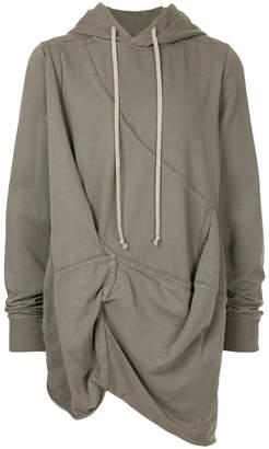 Rick Owens asymmetric hem hoodie