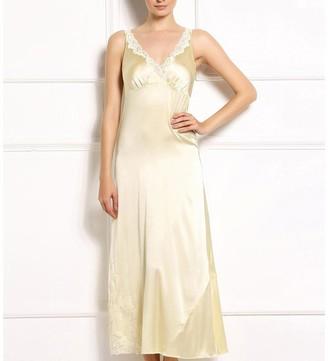 Black Label Lindsay Floral Trim Nightgown