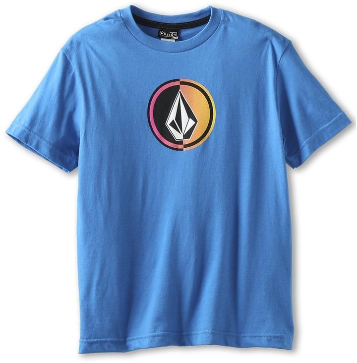 Volcom Circle Stone S/S Tee (Blue) Boy's T Shirt
