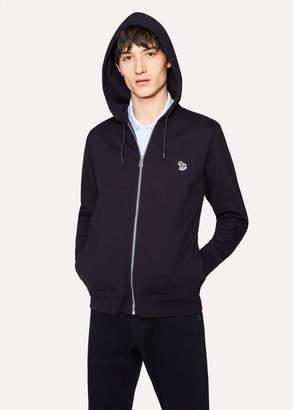 Paul Smith Men's Navy Organic-Cotton Zip-Front Zebra Logo Hoodie