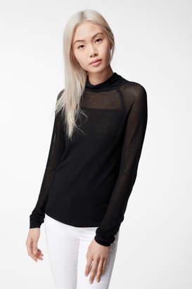 Carlyn Long Sleeve Turtleneck Sweater In Black