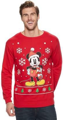 Big & Tall Disney Mickey Mouse Santa Holiday Sweater