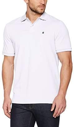 G Star Men's Dunda Polo T S/S Shirt, (White 110), XL