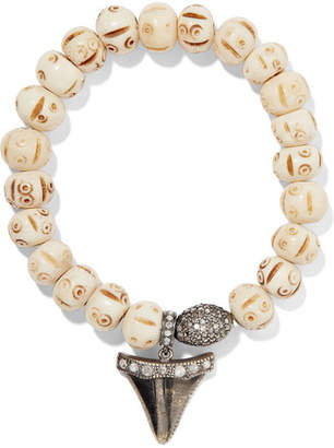 Loree Rodkin Bone, 18-karat Gold And Diamond Bracelet - Silver