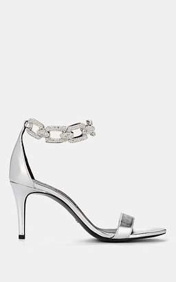 Stella Luna Women's Crystal-Embellished Leather Sandals - Silver