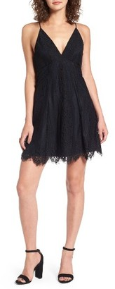 Women's Lush Lace Fit & Flare Dress $55 thestylecure.com