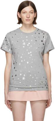 RED Valentino Grey Cascading Stars T-Shirt