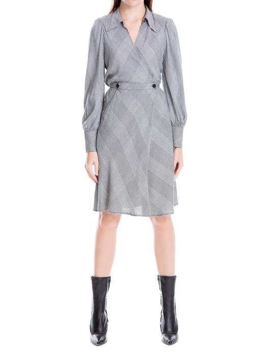 Bias Cut Glen Plaid Dress