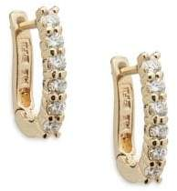 Effy Diamond and 14K Yellow Gold Hoop Earrings, 0.47 TCW