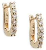 Effy Diamond and 14K Yellow Gold Hoop Earrings, 0.47 TCW