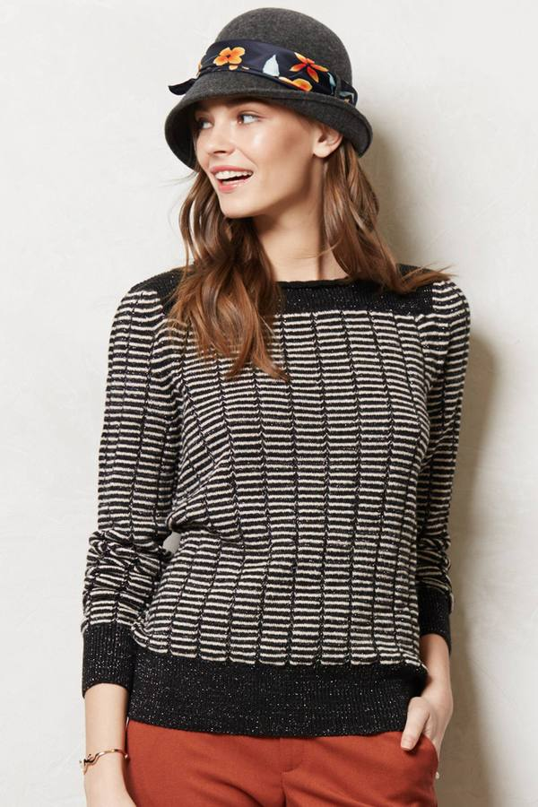 Anthropologie Cultivated Jacquard Pullover