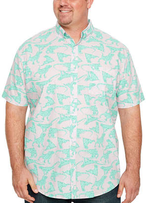 Co THE FOUNDRY SUPPLY The Foundry Big & Tall Supply Short Sleeve Pattern Button-Front Shirt-Big and Tall