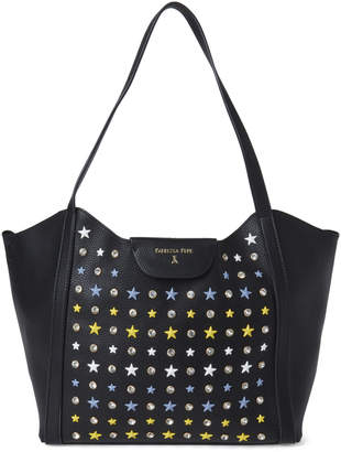 Patrizia Pepe Crystal & Star Studded Black Shopper Bag