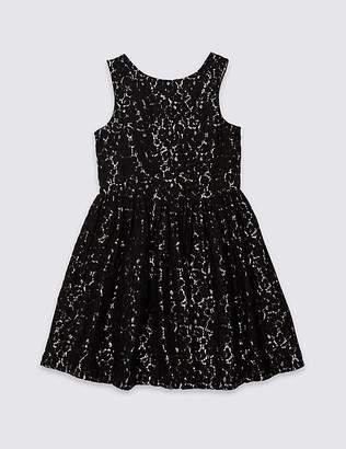 Marks and Spencer Cotton Rich Lace Dress (3-16 Years)