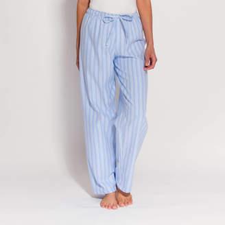 BRITISH BOXERS Women s Pyjama Trousers Blue And White Striped Flannel 0949dbb5e