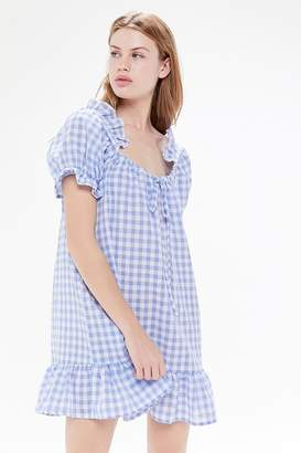 94cb9c216c Urban Renewal Vintage Remnants Gingham Ruffle Babydoll Dress