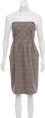 Lida Baday Wool Strapless Dress