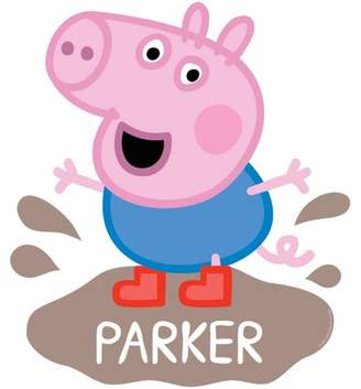 Peppa Pig Personalized George Mud Puddle Easy-Move Canvas Decal