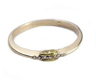 Ralph Lauren Blair Brown Jewelry 14k Gold & Diamond Golden Eye Ring