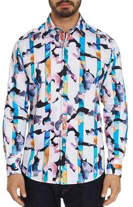 Robert Graham Abstract Striped Classic Fit Shirt