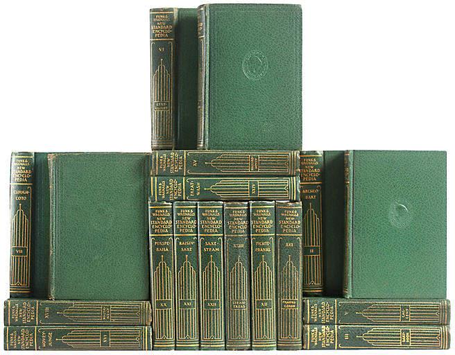 Green & Gilt Pocket Encyclopedias