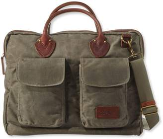 At L Bean Heritage Waxed Canvas Briefcase