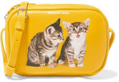 Balenciaga - Everyday Xs Aj Printed Textured-leather Camera Bag - Yellow