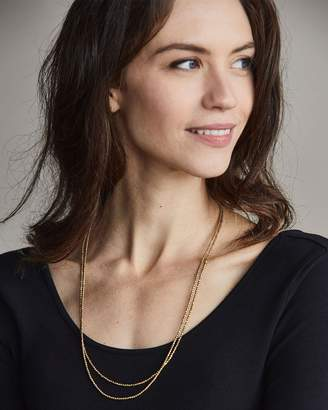 Nisolo Tiny Brass Bead Necklace