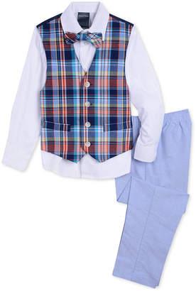 Nautica (ノーティカ) - Nautica Little Boys 4-Pc. Madras Oxford Vest Set