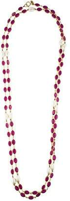 Chanel Crystal & Pearl Sautoir Necklace