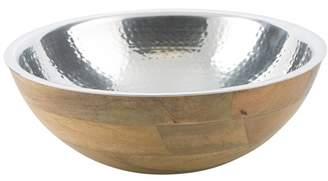 Aluminium And Mango Wood Ari Salad Bowl With Removable Parts