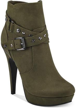 G by Guess Deeka Platform Dress Booties Women Shoes