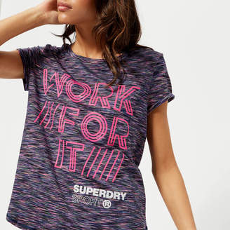 Superdry Sport Women's Fitspiration Ombre Short Sleeve T-Shirt