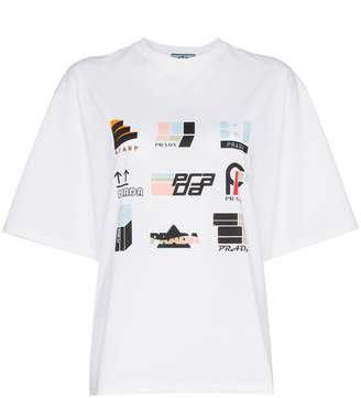 Prada multicolour print short sleeve t-shirt