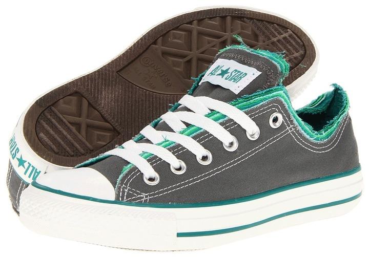 Converse Chuck Taylor All Star Multi Upper Ox (Charcoal/Mint) - Footwear