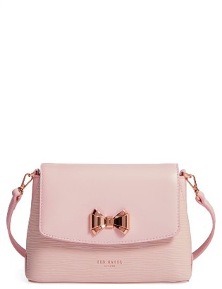 Ted Baker London Leather Crossbody Bag - Pink $195 thestylecure.com