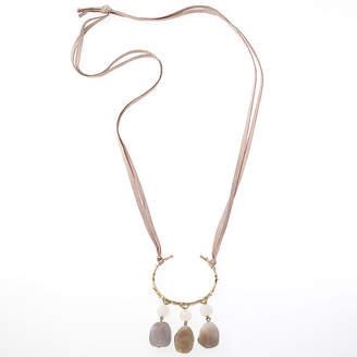Natasha Accessories Womens Multi Color Beaded Necklace