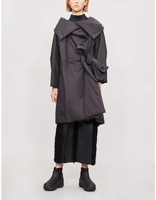 Issey Miyake Side-tie long shell coat