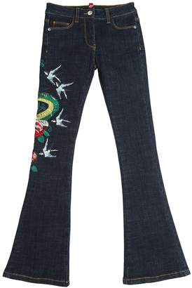 John Richmond Embroidered Stretch Denim Jeans