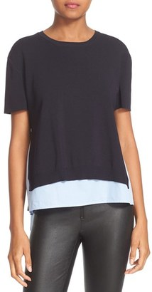 Women's Alice + Olivia Iva Woven Inset Top $295 thestylecure.com