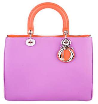 Christian Dior Tricolor Medium Diorissimo Bag
